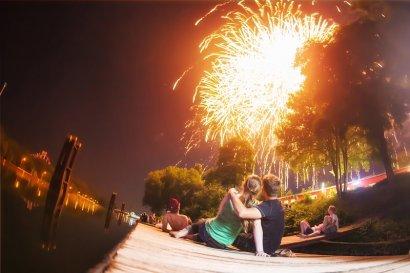 Schifffahrt zum Cranger Kirmes-Feuerwerk ab Gelsenkirchen
