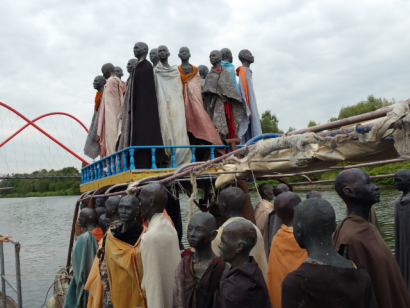 Flüchtlingsboot auf dem KulturKanal