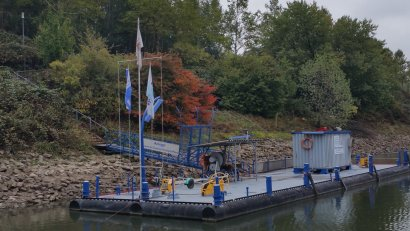 Anleger Eisenbahnbassin Ruhrort am Museum der Deutschen Binnenschifffahrt