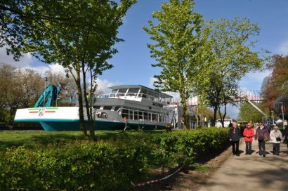 KanalErwachen 2019: Besichtigung Laborschiff Max-Prüss im Kaisergarten Oberhausen