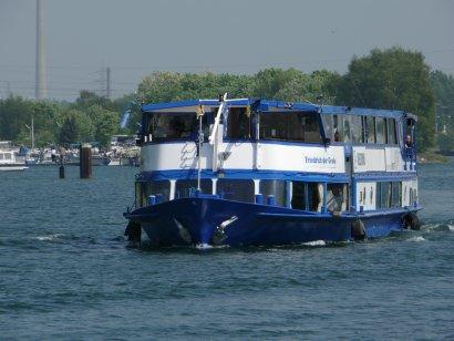 Schiffsparade Kulturkanal 2018 auf dem Kulturschiff Friedrich-der-Große, ab Recklinghausen und Herne