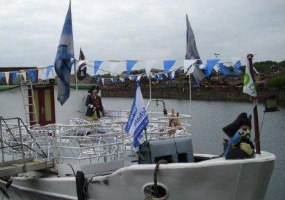 Anleger / Liegeplatz Fahrgastschiff Pirat Darstellung 2
