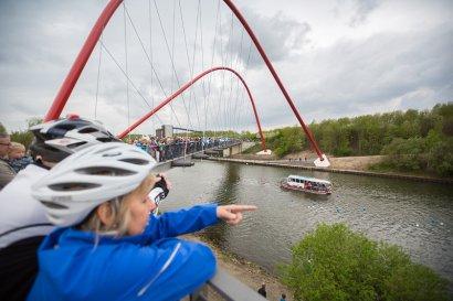 Kanalerwachen 2019: ADFC Radtour ab Bottrop zur Schiffsparade