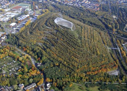 Emscher Park Weg: Vom Tetraeder zum Schloss Oberhausen - Wegbeschreibung