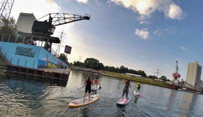 Stand Up Paddling: Kanaltour Stadthafen Recklinghausen