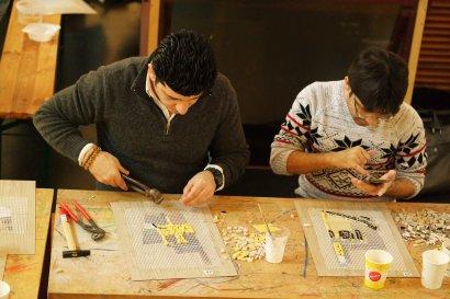 Binnenschifffahrtsmuseum veranstaltet Mosaik-Workshops