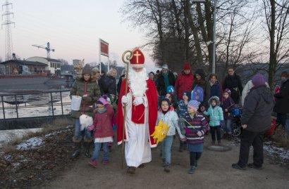 Der Nikolaus im Schiffshebewerk Henrichenburg