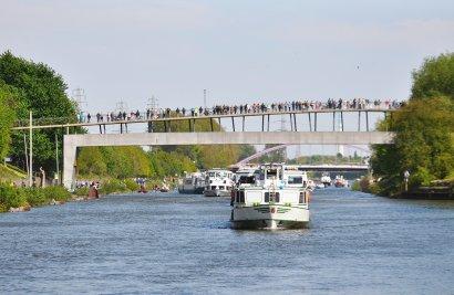 KanalErwachen 2018 mit 5. Schiffsparade KulturKanal  Darstellung 15